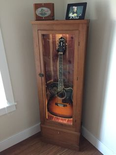 Guitar cabinet converted from a gun cabinet DIY