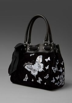 bb660ea00768 juicy butterfly bag Juicy Couture Butterfly Velour Day Dreamer Tote Juicy  Couture Purse