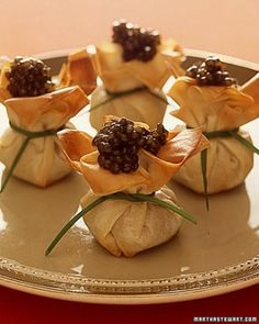 """See the """"Phyllo Purses"""" in our Wedding Cocktail-Hour Recipes gallery"""