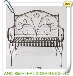 wrought iron park bench and garden bench