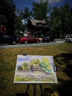 I always want to paint at McMichael and didn't think that the first time I painted here was in a competition. We were about artis. Painting Competition, Urban Sketchers, Toronto, Home Decor, Art, Art Background, Kunst, Interior Design, Gcse Art