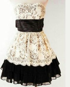 lace black n white dress. Gorgeous