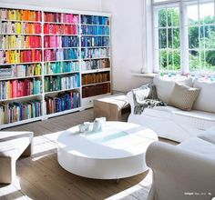 Colour Blocked Bookshelf