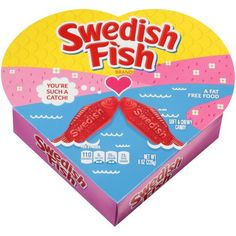 Swedish Fish Valentine's Heart Boxed Candy, 8.0 oz Valentine Heart, Valentines, Swedish Fish Candy, Chewy Candy, Free Candy, Fish Shapes, Store Displays, Candy Shop, Yummy Treats