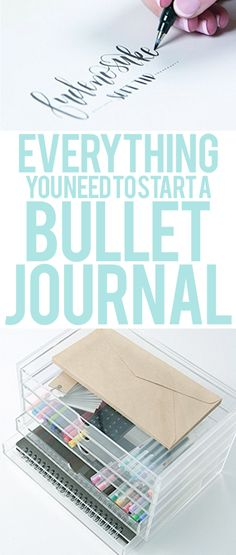 Everything You Need To Start A Bullet Journal | wellella