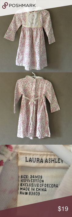 Kids | Like new! Laura Ashley Flower Dress / 24mo Kids | Like new! Laura Ashley pink flower print dress in pristinely kept condition size 24mo. Super soft and comfortable. Worn 1x and washed. Laura Ashley Dresses Casual