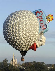 Epcot hot air balloon.  I wonder if you can charter a ride on this at Disney World???  That would be so freakin' awesome!!!