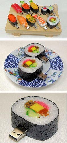 12 Cool USB Flash Drives - lego usb, sushi usb, funny usb They look yummy.Sushi USB Flash DrivesThey look yummy.