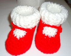 My little Babys Red and White Mary Jean Shoes by FiveLittlePiggys, $16.00