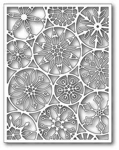 Poppy Stamps - Die - Mod Snowflake Background