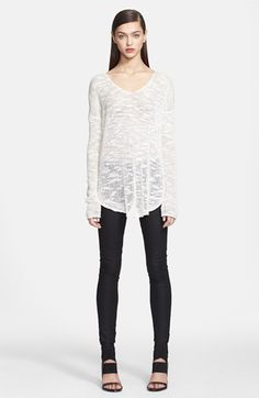 Helmut Lang Knit Silk Sweater available at #Nordstrom