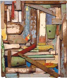 John Dahlsen found object assemblage #wood
