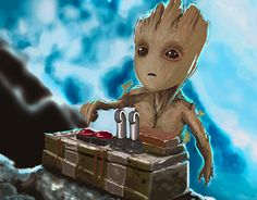 Hey, checkout Baby Groot from new Guardian of the Galaxy Galaxy Vol 2, Baby Groot, Guardians Of The Galaxy, New Work, Behance, Gallery, Check, Fictional Characters, Art
