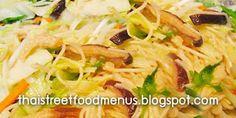 Thai food menu Thai street food menu: Thai stir fried Chinese rice noodles vegetarian me. Chinese Rice Noodles, Thai Food Menu, Thai Stir Fry, Vegetarian Menu, Thai Street Food, Thai Recipes, Make It Simple, Jay, Fries