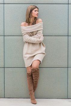 Ecstasy Models — Off Shoulder Sweater Jersey/Sweater: RIVER...
