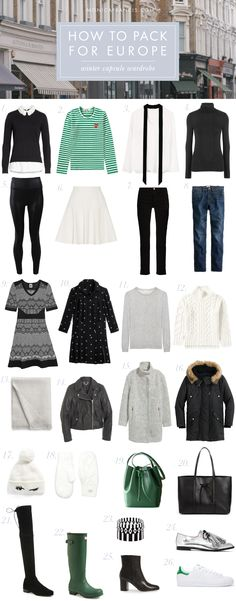Packing for Europe: Winter Capsule Wardrobe Europe Travel Outfits, Packing For Europe, Travel Wardrobe, Packing Tips For Travel, Travel Essentials, Travel Checklist, Travel Europe, Travel Ideas, Suitcase Packing