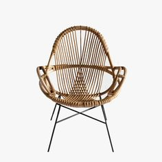The Wend Studio Diamond Rattan Chair, with its open weave design and modern shape was created with laid back, resort-style living in mind.