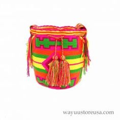Royal Blue Wayuu Bag Wayuu Mochila Bag ~wybag-277