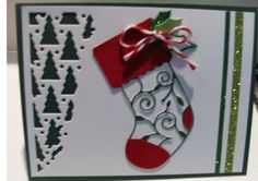 Christmas card created in class with Jenny Griffiths who is a design team member for Memory Box.