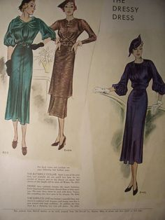 1935 McCalls PATTERN ADVERTISEMENT / Vintage by PapersAndMore, $10.00