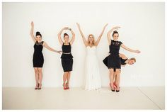 L. O. V. E.  Fun bride and bridesmaids pic idea