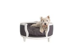 Luxury dog sofa - George - Burlap Grey - Lord Lou