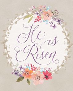 """This free Easter """"He Is Risen"""" printable is perfect for your home decor or makes a great gift. Get it today at Easter Art, Easter Crafts, Easter Ideas, Easter Clip Art Free, Easter Projects, Easter Decor, Why We Celebrate Easter, Easter Scriptures, Easter Verses"""