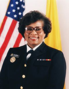 Joycelyn Elders - United States Surgeon General from September 8, 1993 to December 31, 1994; First African American, and the second woman to be appointed Surgeon General; First African American Resident Pediatrician at the University of Arkansas Medical Center