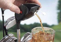 Golf Club Drink Dispenser.. Why, how handy.