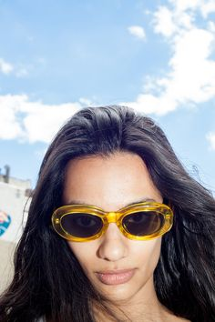 These sunglasses probably turn your surroundings into a sunflower field.