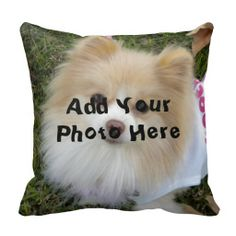 Shop Custom Photo Pillow created by HolidayZazzle. Personalize it with photos & text or purchase as is! Custom Pillows, Decorative Throw Pillows, Photo Pillows, Dog Pin, Custom Shower Curtains, Animal Pillows, Dog Pillows, Custom Photo, Diy Gifts