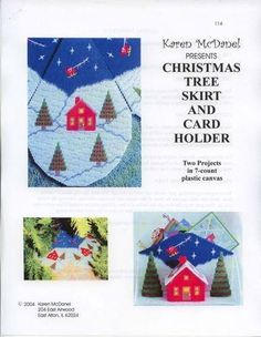 CHRISTMAS TREE SKIRT AN CARD HOLDER 1/6