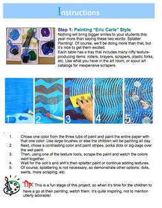 Eric Carle inspired art lessons for kids.