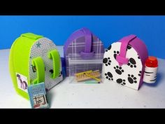 How to Make a Doll Backpack PLUS Easy Working Pencils & Pencil Case : LPS Doll DIY - YouTube