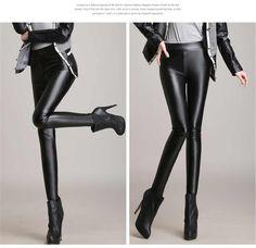 2016 Winter Autumn Women Pants Pu Padded Leggings 7 Colors Plus Size Leggins Pantalones Mujer Pantalon Femme Faux Leather pants