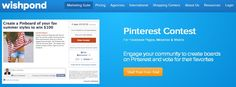 Wishpond.com - A social media marketing suite that has a Pinterest contest app allowing merchants to create contests that connect Pinterest and Facebook Pages, websites and mobile together.