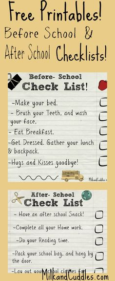 Streamlining your before school routine can be tricky! Maybe you have your resident sleepy head to get moving, or perhaps you have that one child that keeps getting side tracked! Limited time + stressed out kids = morning chaos! Here are two Free Printable checklists for Before school and after school! #fuelforschool #ad #freeprintable