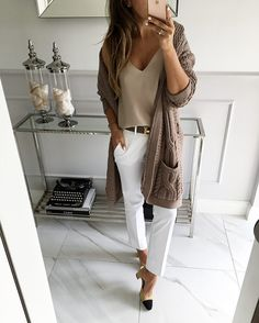 style tips for wearing maxi cardigan - RG OWN by Lu K Vilar - Work Outfits Women Chic Summer Outfits, Casual Work Outfits, Professional Outfits, Mode Outfits, Work Attire, Fashion Outfits, Womens Fashion, Fashion Fashion, Fashion Models