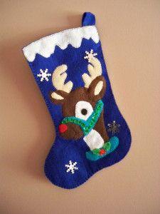 Christmas Favors, Felt Christmas Decorations, Christmas Art, Handmade Christmas, Holiday Quilt Patterns, Christmas Stocking Pattern, Christmas Stockings, Felt Stocking, Christmas Traditions