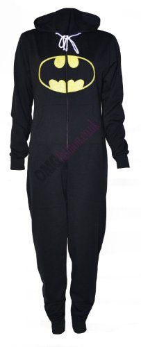 "AWESOME! Hooded adult onsie! Can you say ""Wholly costume for Halloween, Batman!"""