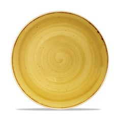 "Churchill 10.25"" Stonecast Mustard Seed Yellow Coupe Plate"