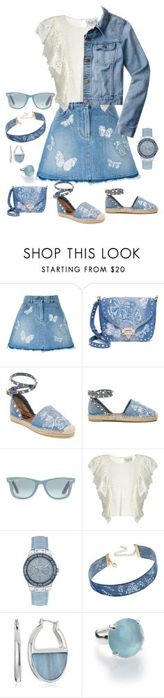 """Butterfly Denim"" by snowflakeunique ❤ liked on Polyvore featuring Valentino, Ray-Ban, Sea, New York, GUESS, INC International Concepts, Kenneth Cole, Ippolita and J.Crew"
