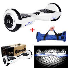 Tera T1 Smart Doble dos ruedas Auto Equilibrio Scooter eléctrico azul rojo negro + Tera enchufe europeo con bolsa impermeable