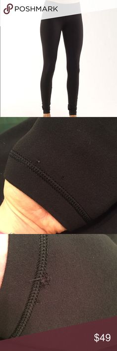Lulu lemon Wunder Under Brushed Leggings Lululemon brushed luon leggings are warmer and cozier than the normal luon fabric. These have a couple of tiny holes at the leg openings ana slight pilling at the crotch area. lululemon athletica Pants Leggings