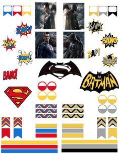 Batman vs Superman FREE printable planner stickers