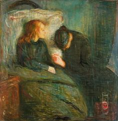 """After experimenting with Impressionism, which he found too much like scientific experimentation, Munch concluded he needed a more expressive idiom. Under Hans Jæger's commandment Munch began a period self-examination, recording his thoughts in his """"soul's diary"""" which transformed his view of art. The Sick Child 1886, based on his sister's death, was his 1st break from Impressionism & it caused another """"violent outburst of moral indignation"""" from family & critics."""