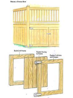 Storage Door, Door Frame exploded view