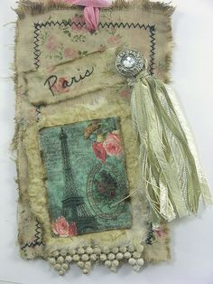 fabric tag paris by Shabby Cottage Studio, via Flickr