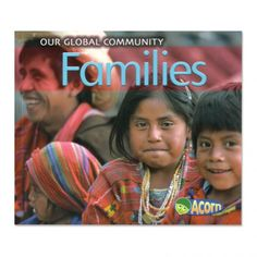 """Families:""""Families walk together. Families ride bikes together. Families have fun together. What does your family do?""""   People everywhere share the same universal needs: family, food, shelter, and clothing. This rich cultural resource book pairs vivid, joyful photos of people around the word with simple, appealing text. Includes picture glossary and index. Paperback, 24 pages. Ages 3 - 6."""