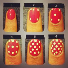 How to do polka dot nails the right way- Good idea!